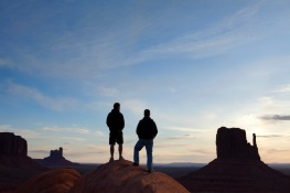 We left Canyon de Chelly early enough to see the sunrise at Monument Valley.