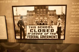 A historic image of the school closed during the Civil Rights era.
