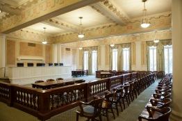 The Old Arkansas Supreme Court chamber in the state capitol.