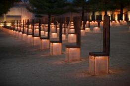 The Field of Empty Chairs, representing the 168 lives taken that day.