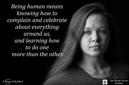 "Photo originally taken for A Peace of My Mind at Miami Valley School. Subjects were asked, ""What does it mean to be Human?"""
