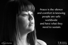 """What does peace mean to you?"" Photos taken by A Peace of My Mind at Thiel College."