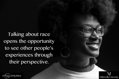 """At Millersville University, A Peace of My Mind asked, """"What is the unique opportunity or challenge of talking about race at this moment in history?"""""""