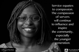 """A Peace of My MInd visited Alvernia University and asked, """"How does participating in service provide hope?"""""""