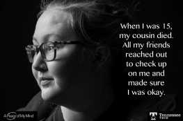 """A Peace of My Mind visited Tennessee Tech and asked, """"When has someone reached out to lift you up?"""""""