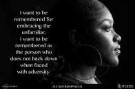 """A Peace of My Mind visited Rutgers University and asked, """"What do you want to be remembered for?"""""""