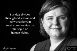 """A Peace of My Mind visited the Forum on Workplace Inclusion and asked, """"When have you bridged a divide?"""""""