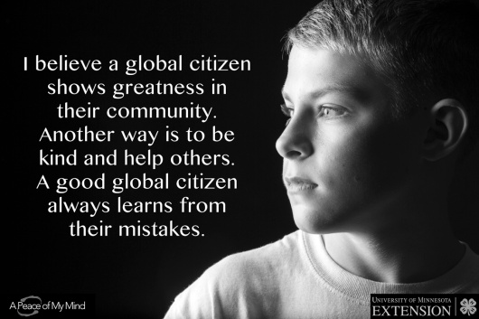 """A Peace of My Mind visited the 4H Youth Conference and asked, """"What can you do to be a good global citizen?"""""""
