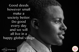 "A Peace of My Mind visited Good Deeds Day in Nairobi and asked, ""What inspires you to do good?"""
