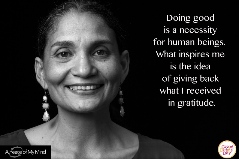 """A Peace of My Mind visited Good Deeds Day in Lima, Peru and asked, """"What inspires you to do good?"""""""